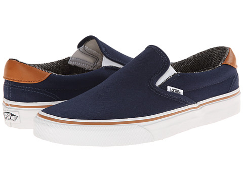 Vans - Slip-On 59 ((C&L) Dress Blues/Tweed) Skate Shoes