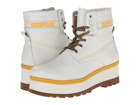 Caterpillar Casual - High Hopes (White) Women's Lace-up Boots
