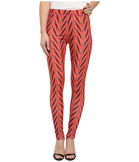 Betsey Johnson - All Zipped Up Legging (Red/Black) Women