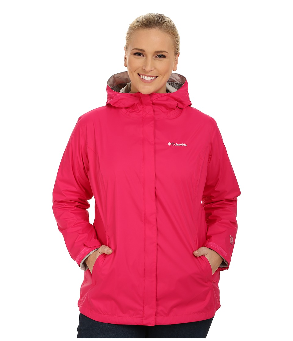 Columbia - Plus Size Arcadia II Jacket (Bright Rose) Women's Coat