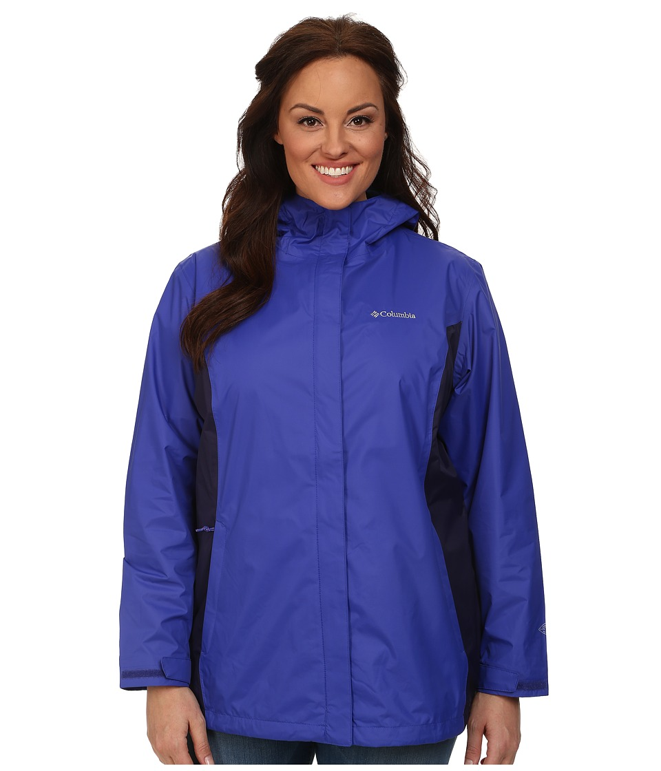 Columbia - Plus Size Arcadia II Jacket (Light Grape/Eclipse Blue) Women's Coat