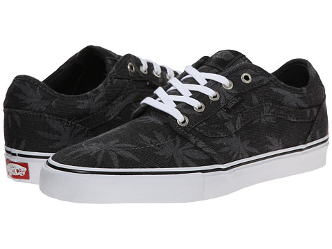 Vans - Lindero 2 ((Palm Jacquard) Black/Grey) Men's Skate Shoes