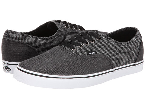 Vans - LPE ((2 Tone Suiting) Black/True White) Skate Shoes