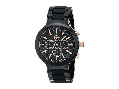 Lacoste - 2010769-BORNEO CHRONO (Black/Rose Gold) Watches