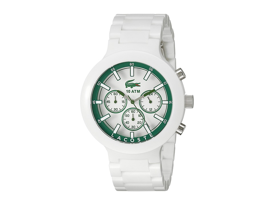 Lacoste - 2010757-BORNEO CHRONO (White/Green) Watches