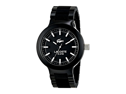 Lacoste - 2010754-BORNEO 3H (Black/Silver) Watches