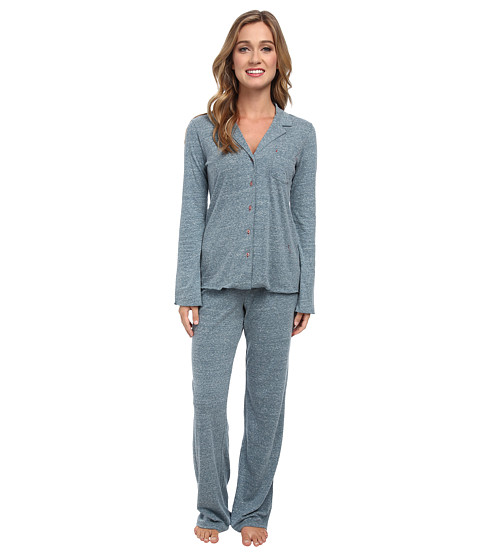 Josie - Josie Heather Jersey 30 Inseam PJ (Jade) Women's Pajama Sets