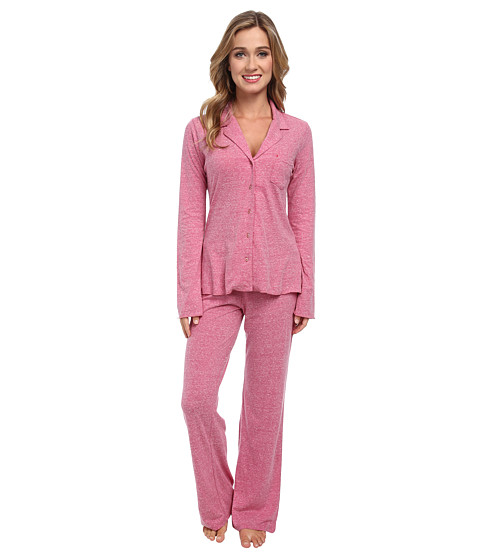 Josie - Josie Heather Jersey 30 Inseam PJ (Magenta) Women's Pajama Sets