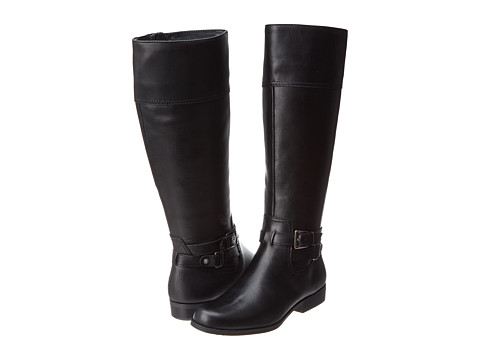 Anne Klein - Coldfeet Wide (Black Leather) Women's Cold Weather Boots