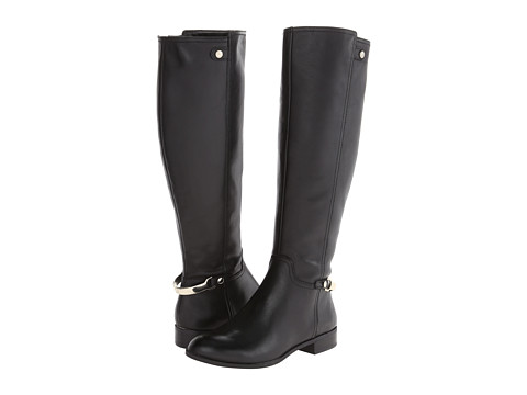 Anne Klein - Kacey (Black Leather) Women's Pull-on Boots