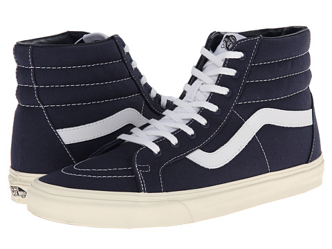 Vans - SK8-Hi Reissue ((10 oz Canvas) Dress Blues/Marshmallow) Skate Shoes