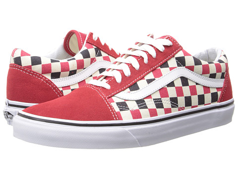 Vans - Old Skool ((Golden Coast) Red/Blue/Check) Skate Shoes