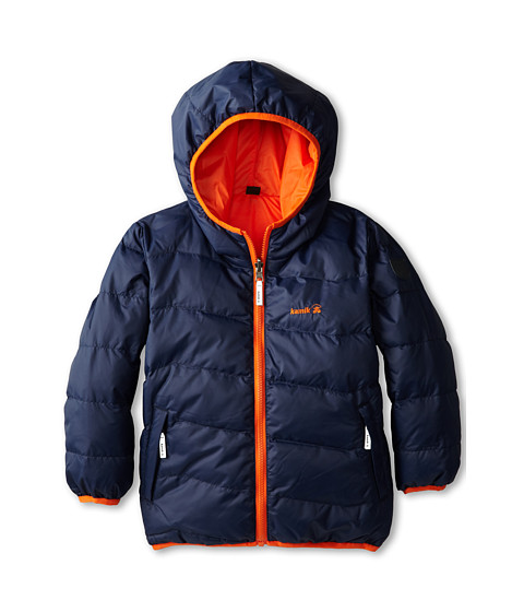 Kamik Kids - Blender Reversible Downfilled Jacket (Toddler/Little Kids/Big Kids) (Navy) Boy's Jacket