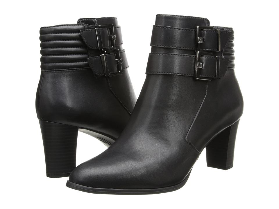 Anne Klein - Towny (Black Faveau/Gunmetal Hardware) Women's Zip Boots