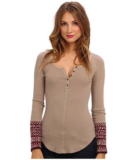Free People - Alpine Cuff (Almond) Women's Sweater