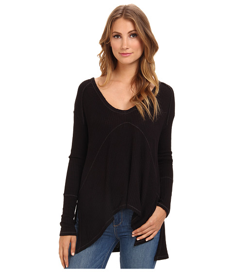 Free People - Sunset Park Top (Black) Women's Long Sleeve Pullover