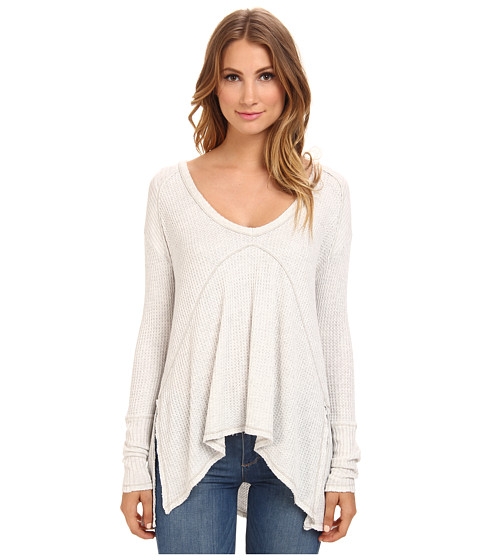 Free People - Sunset Park Top (Oatmeal Heather) Women's Long Sleeve Pullover