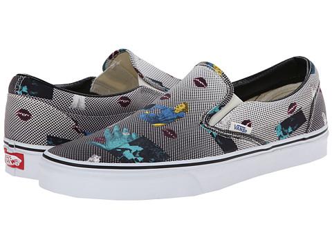 Vans - Classic Slip-On ((Van Doren) Black/80's Lips) Skate Shoes