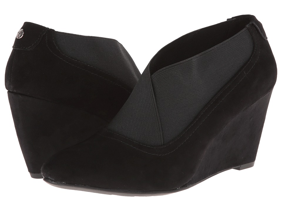Anne Klein - Dorinda (Black Suede) Women's Wedge Shoes