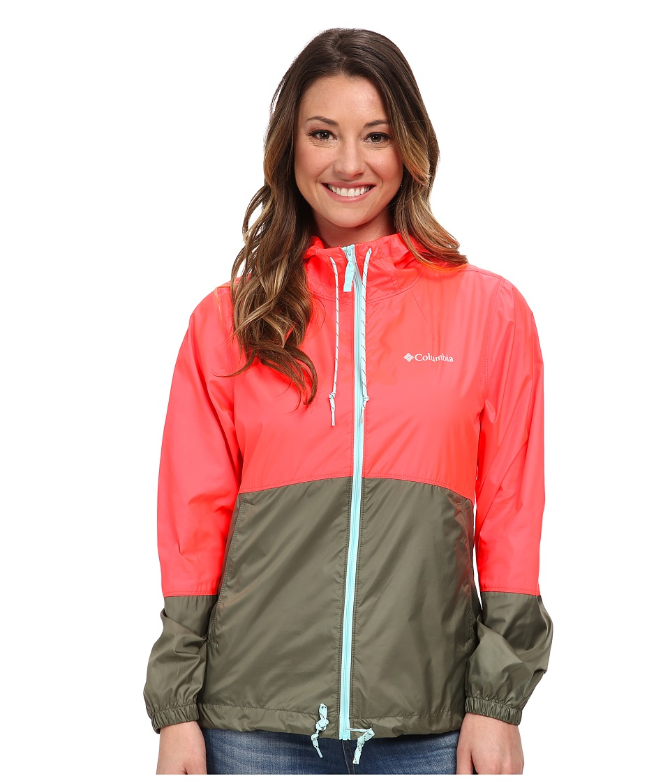 Columbia - Flash Forward Windbreaker (Laser Red Matte/Cypress) Women's Jacket