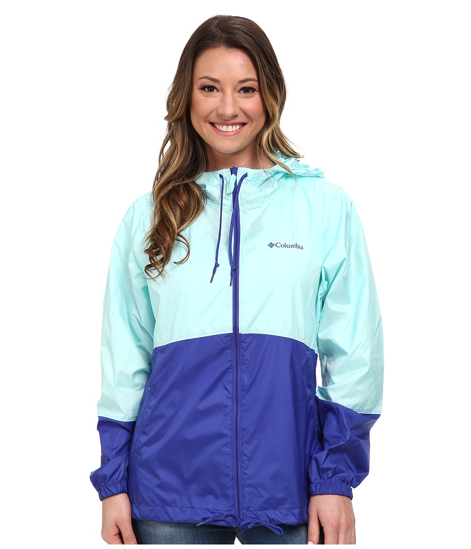 Columbia - Flash Forward Windbreaker (Candy Mint Matte/Light Grape) Women's Jacket