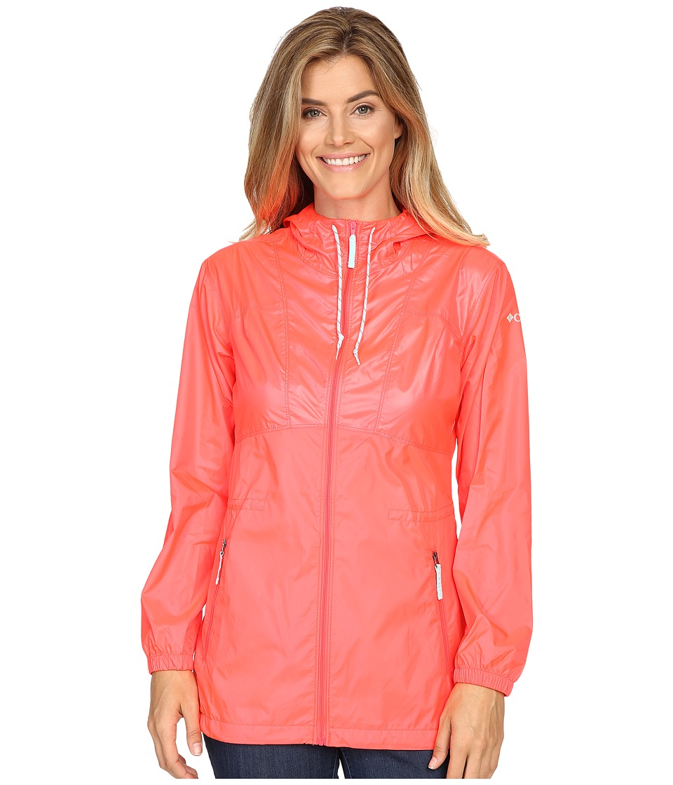 Columbia - Flashback Windbreaker Long (Laser Red Shiny/Laser Red Matte/Candy Mint) Women's Jacket