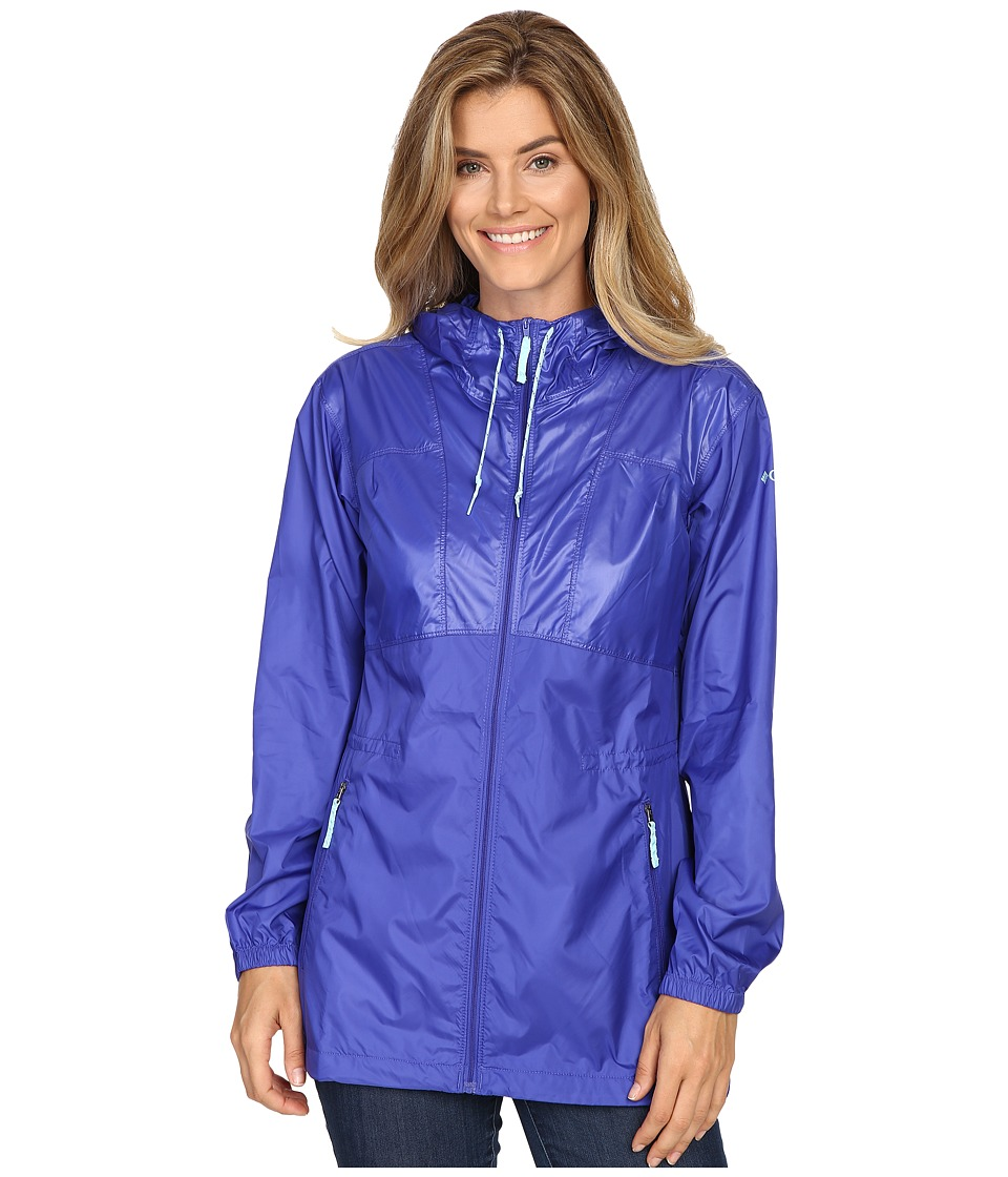 Columbia - Flashback Windbreaker Long (Light Grape Shiny/Light Grape Matte/Candy Mint) Women's Jacket