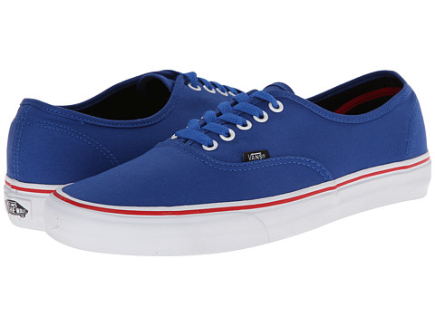 Vans - Authentic ((Pop) Princess Blue/Mars Red) Skate Shoes