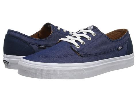 Vans - Brigata ((C&C) Dress Blues/True White) Skate Shoes