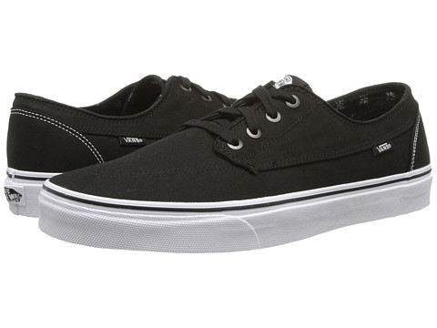 Vans - Brigata ((Canvas) Black/True White) Skate Shoes
