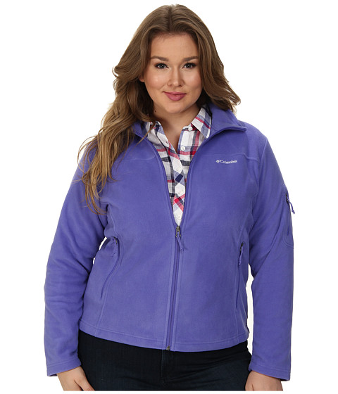 Columbia - Plus Size Fast Trek II Full Zip Fleece Jacket (Purple Lotus) Women's Coat