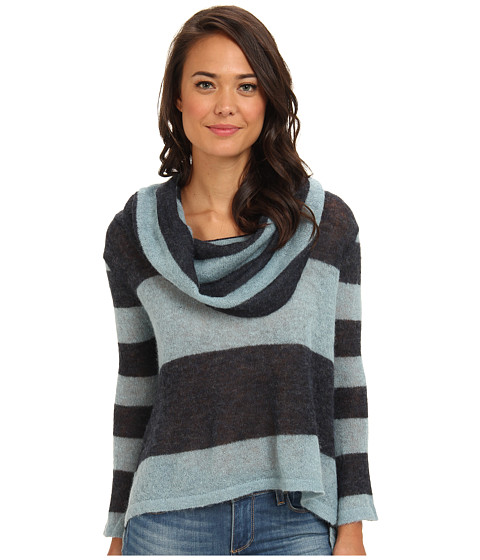 Free People - Lulu Cowl Sweater (Navy/Blue Combo) Women's Sweater
