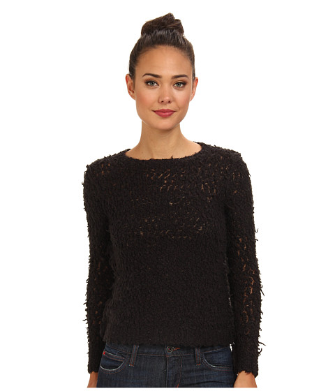 Free People - September Song Sweater (Charcoal) Women