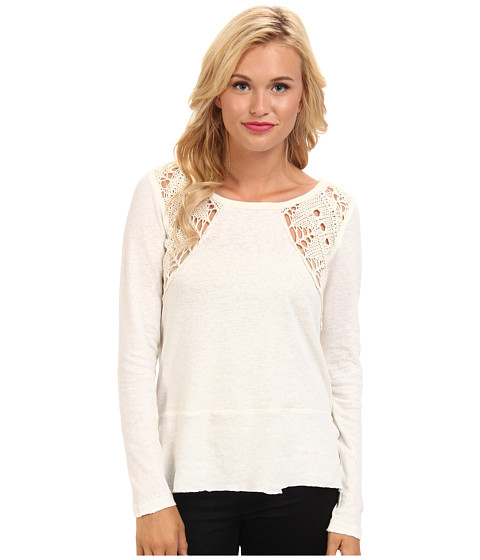 Free People - Lace Up Swit Tee (Cream) Women's T Shirt