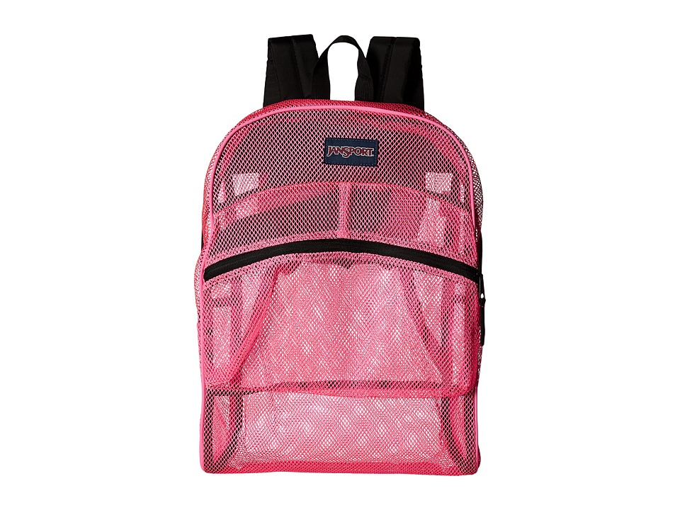 JanSport - Mesh Pack (Flourscent Pink) Backpack Bags