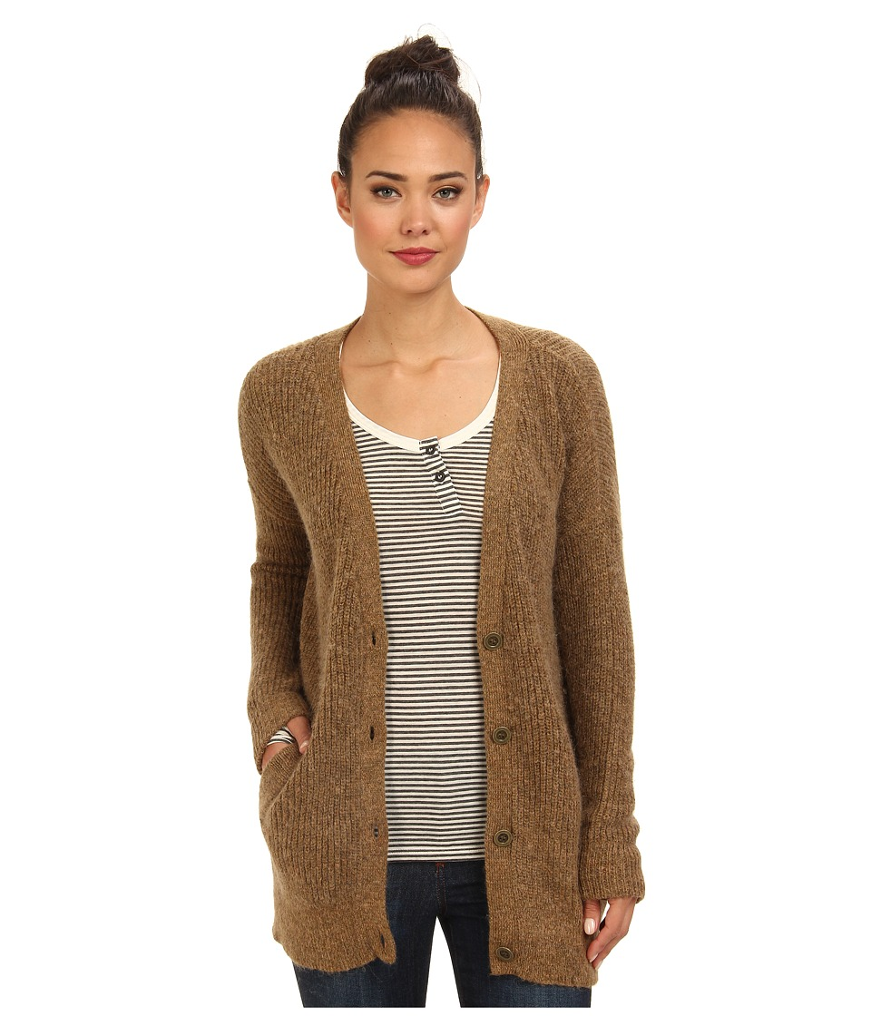 Free People - Cloudy Day Cardigan Sweater (Camel Combo) Women's Sweater