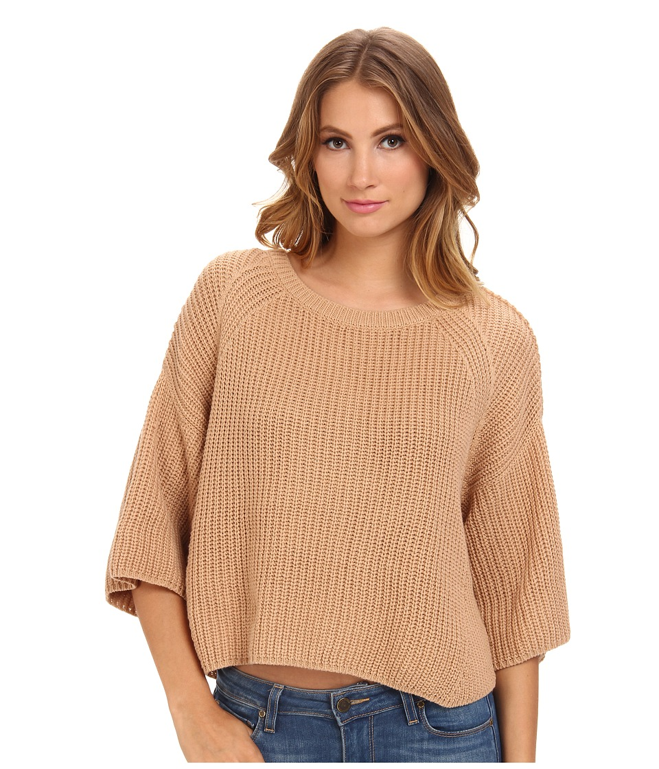 Free People - Rayanne Shaker Sweater (Camel) Women