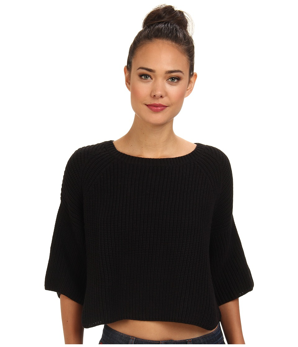 Free People - Rayanne Shaker Sweater (Black) Women's Sweater