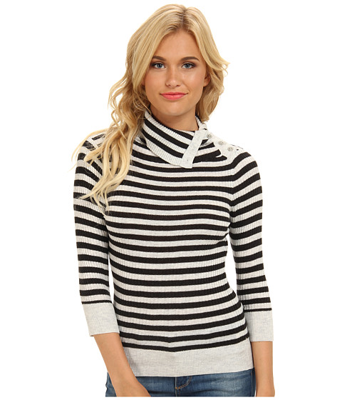 Free People - Ana's Pullover Sweater (Charcoal Combo) Women's Sweater