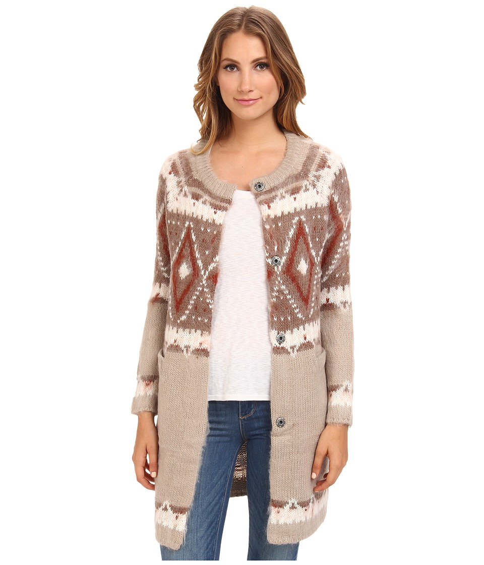 Free People - Frosted Fairisle Cardi (Natural Combo) Women's Sweater