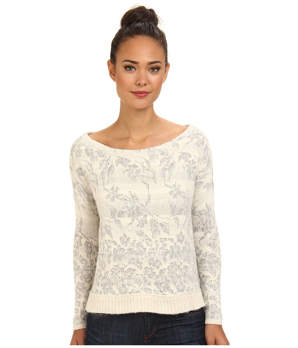 Free People - Floral Fields Sweater (Cream Combo) Women's Sweater