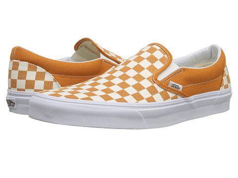 Vans - Classic Slip-On ((Golden Coast) Golden Oak/True White) Skate Shoes
