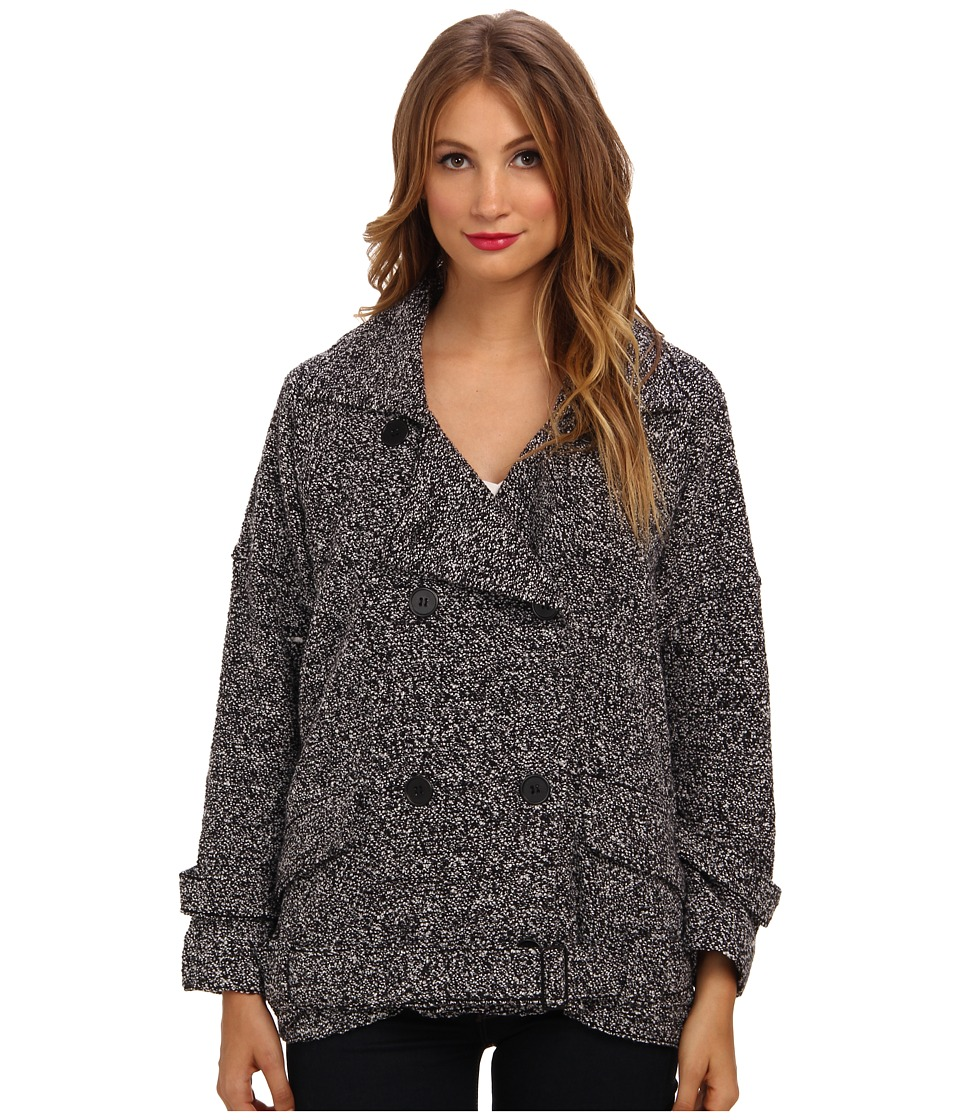 Free People - Slouchy Moto Jacket (Black Combo) Women's Coat