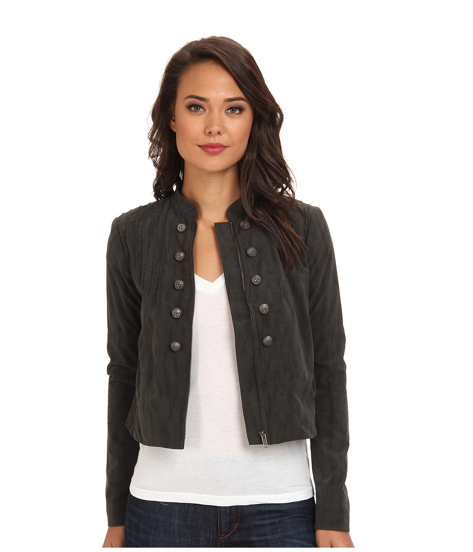 Free People - Vegan Suede Femme Band Jacket (Grey) Women's Coat
