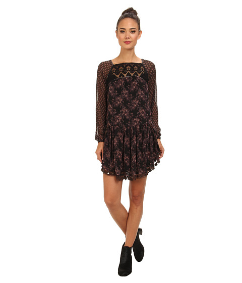Free People - Elsie Dress (Midnight Garden Combo) Women's Dress