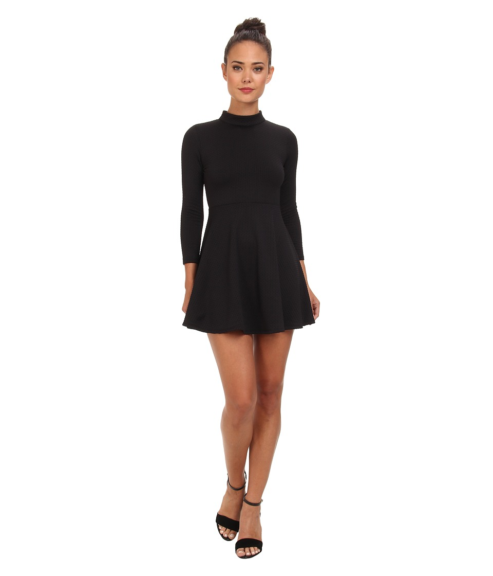Free People - Flirt N Flare Dress (Black) Women's Dress