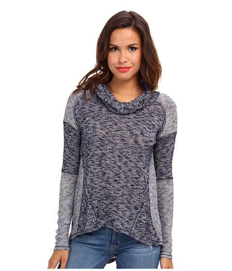 Free People - Hacci Beatnik (Navy Combo) Women's Long Sleeve Pullover