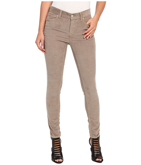 Free People - Hi-Rise Skinny Cord (Warm Grey) Women's Casual Pants
