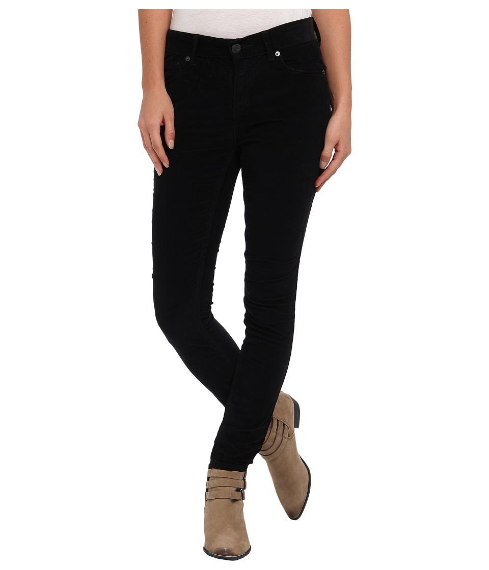 Free People - Hi-Rise Skinny Cord (Black) Women's Casual Pants