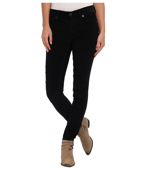 Free People - Hi-Rise Skinny Cord (Black) Women's Casual Pants